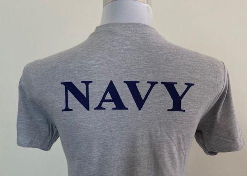 Grey Uniform Undershirt   (Navy print on back)