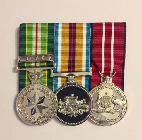 Medal-Australian Active Service-Icat Clasp-Afghanistan-Australian Defence  Medal With Free Ribbon Bar (AASM/AFGAN/ADM/ICAT CLASP)